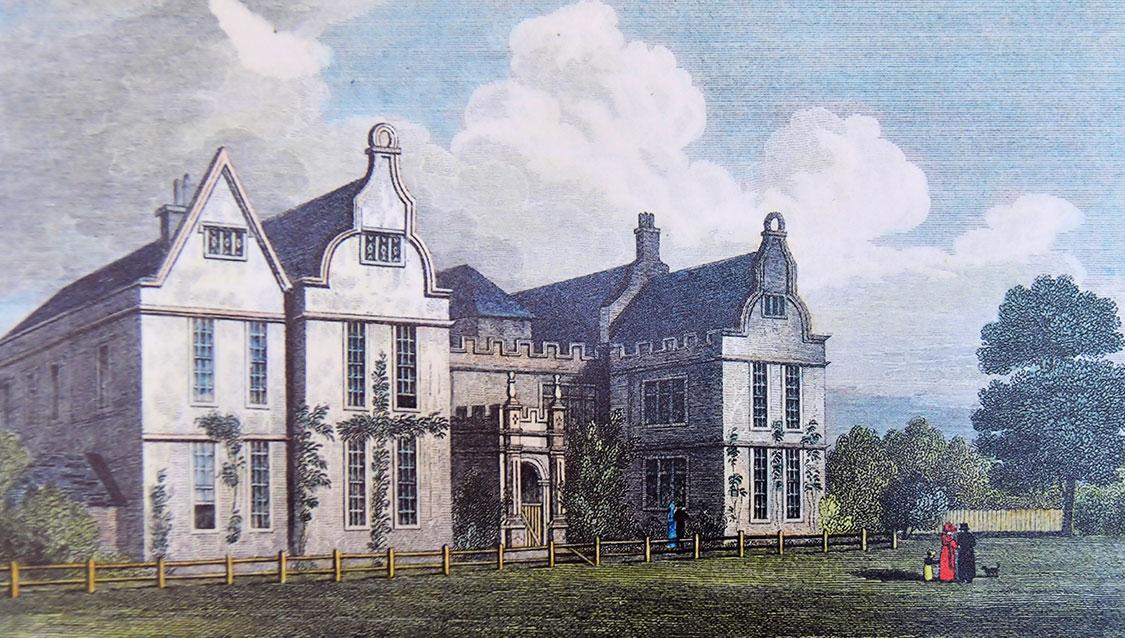 Painting of Delapré Abbey