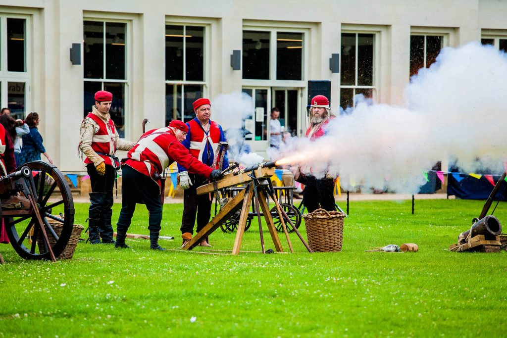 Cannon Being Fired at an Historical Event at Delapré Abbey