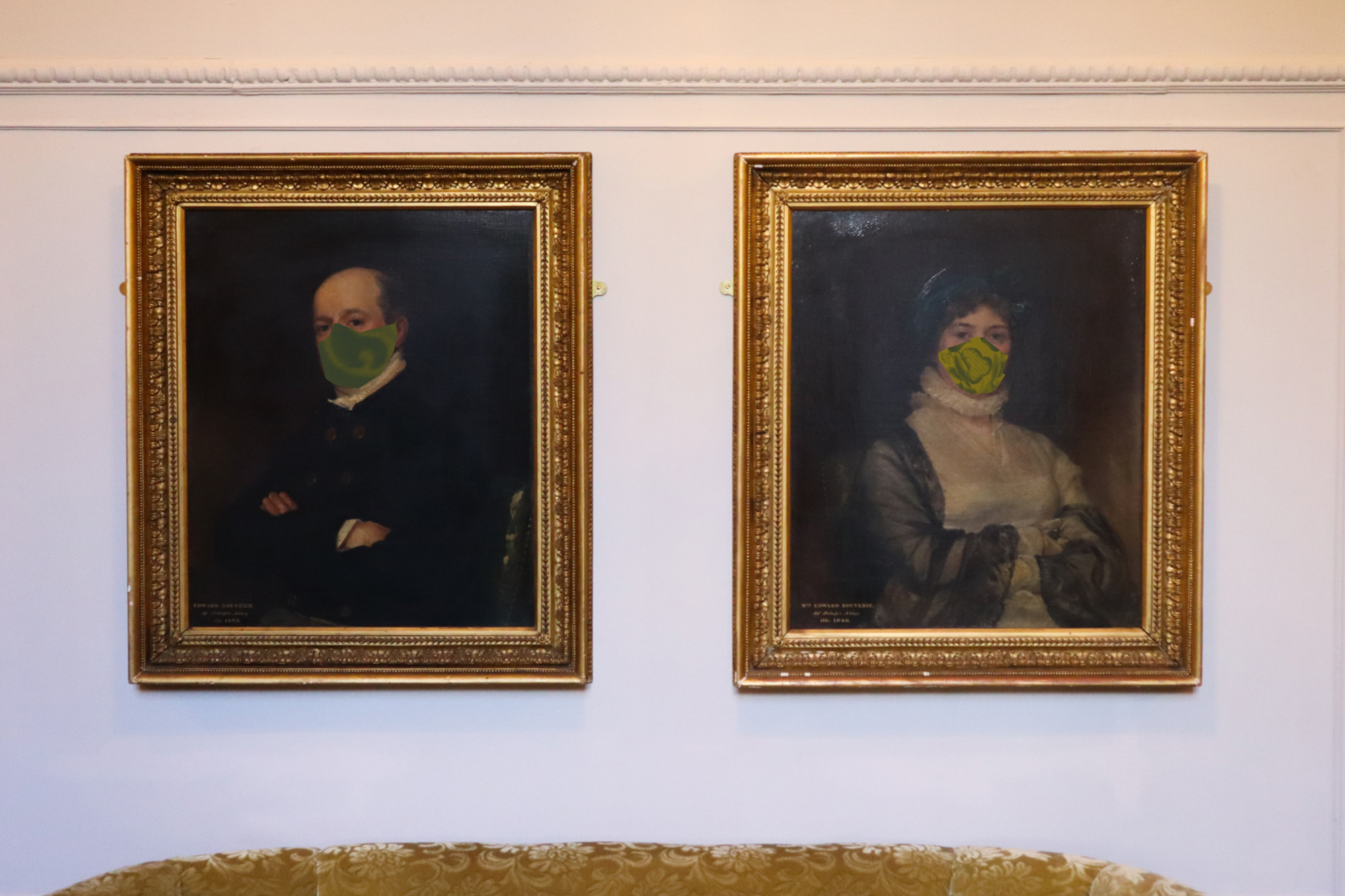 Delapre Abbey Portraits With Facemasks