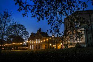 Delapre Abbey At Night