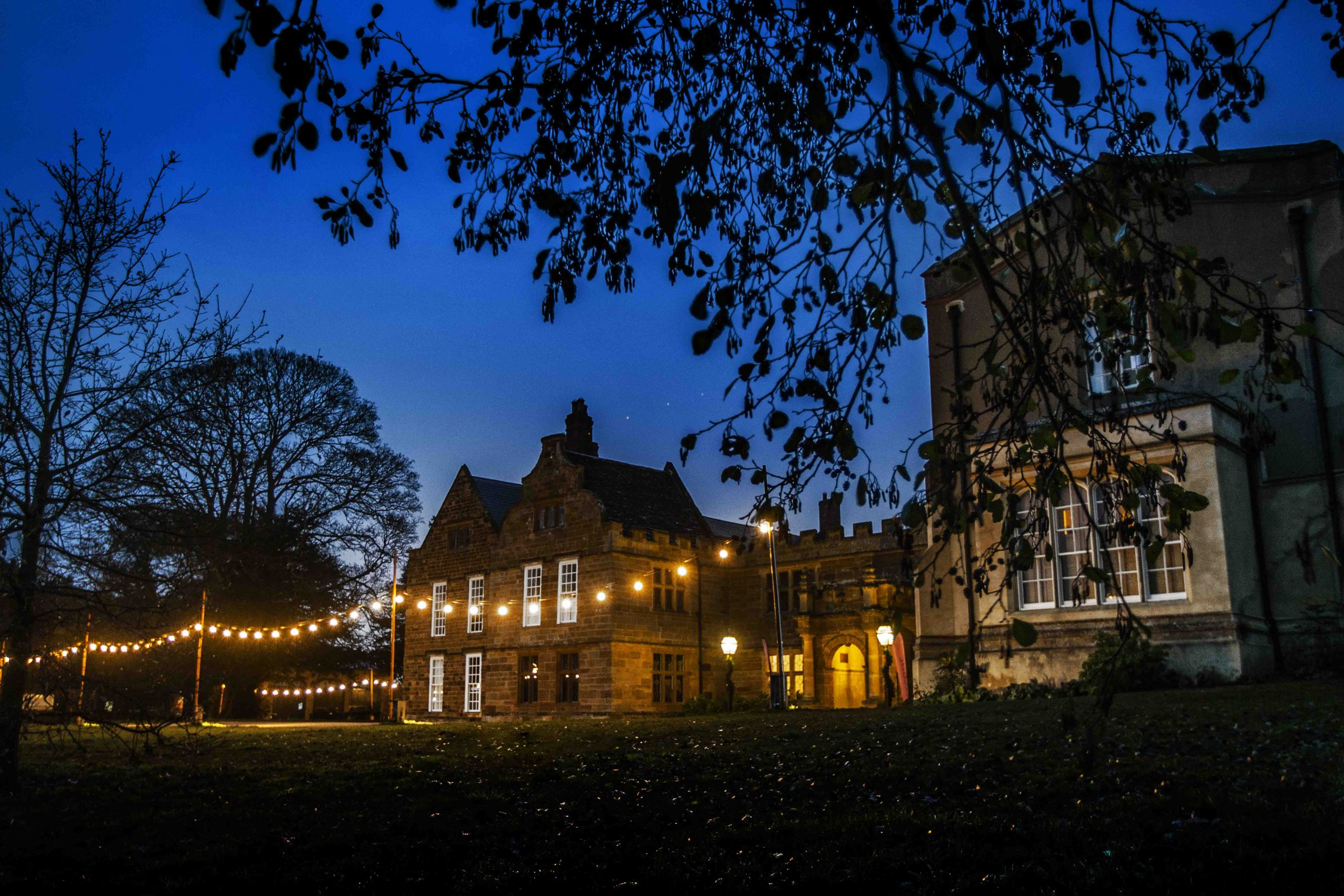 Delapre Abbey At Night